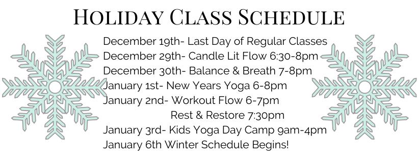 Holiday-Class-Schedule